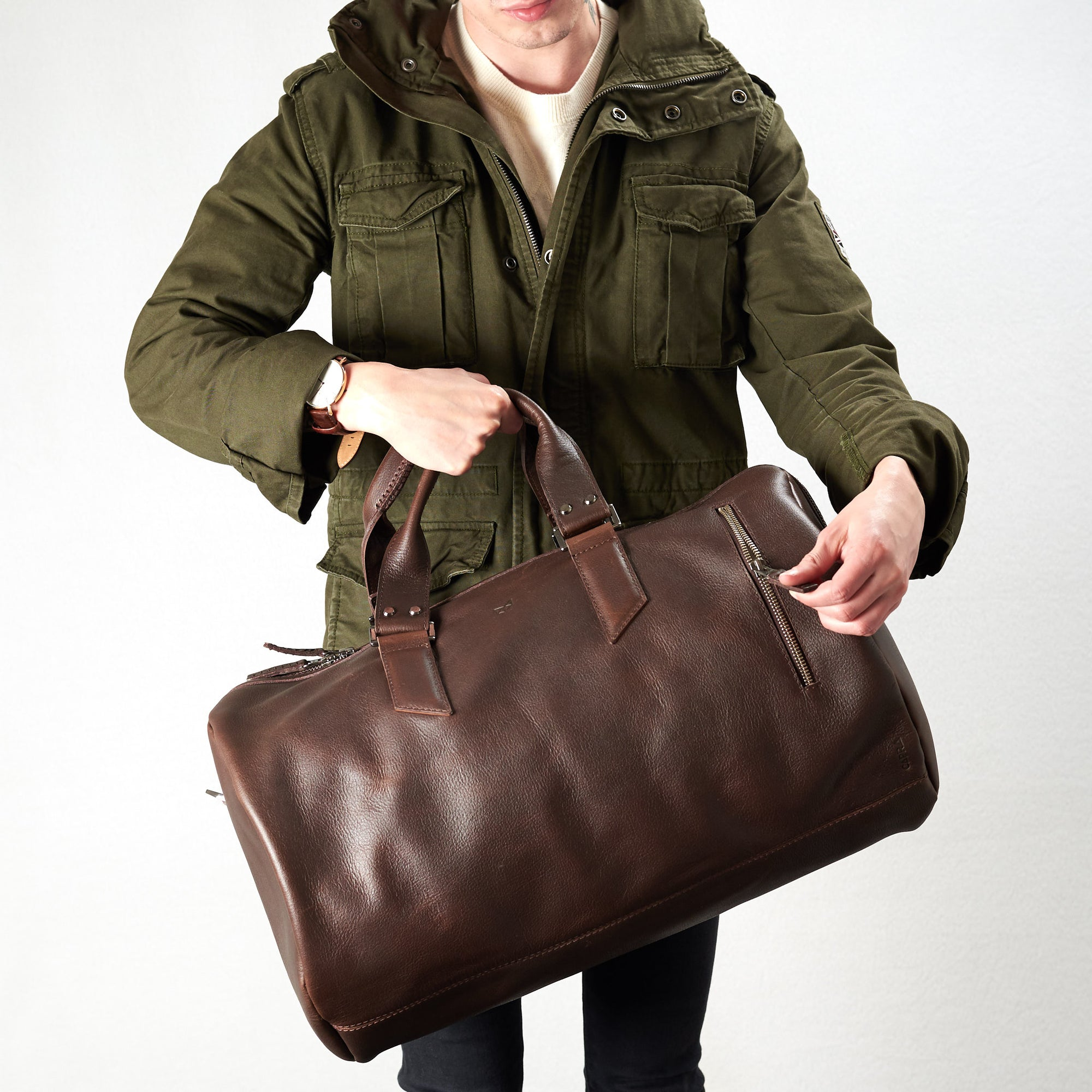 Substantial Duffle Bag by Capra Leather