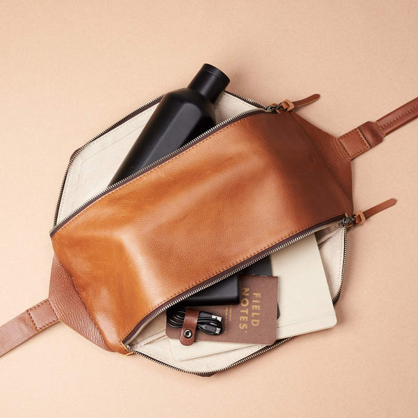 leather sling backpack for men