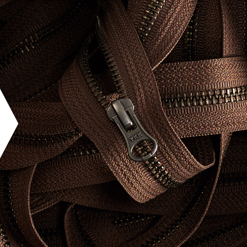 YKK metallic zippers