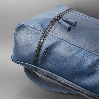 Leather Banteng Ocean Blue Laptop Backpack for Men by Capra Leather