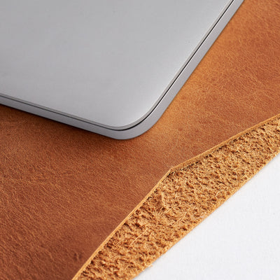 Soft interior. Light brown Macbook Pro Touch id touch bar case leather