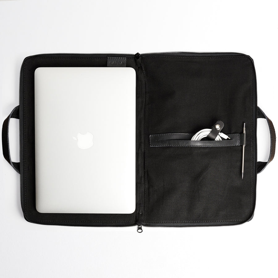 Biker Laptop Portfolio · Black