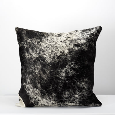 Back patterns from handmade dual leather cowhide cushion