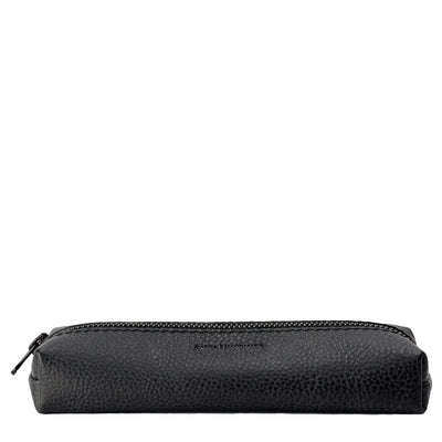 Handmade Black Pencil Case by Capra Leather