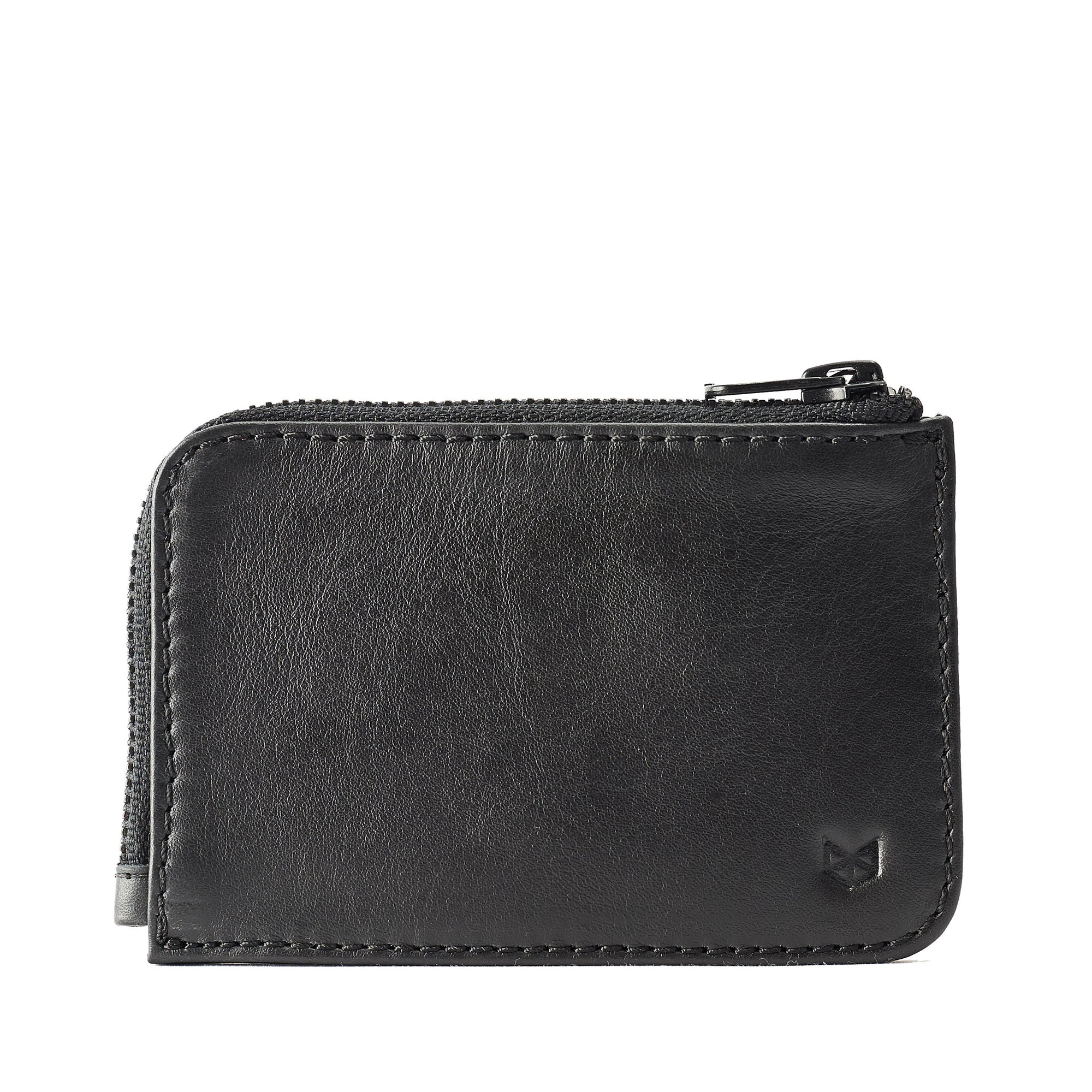 HANDMADE LEATHER ZIP CARD HOLDER // BLACK by Capra leather - Capra ...