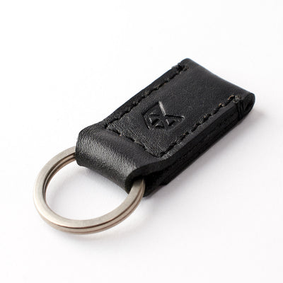 Black leather magnetic keychain, custom magnetic key fob