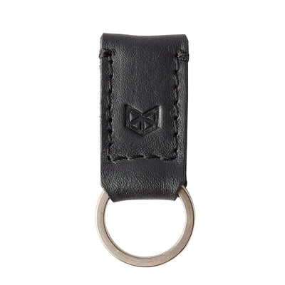 Black leather keychain, magnetic key fob for mens gifts