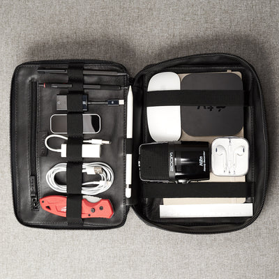 Gadget Travel Bag Electronics Organizer by Capra Leather. Gifts for Men