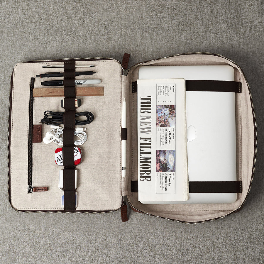 Tech Laptop Tablet Bag · Tobacco