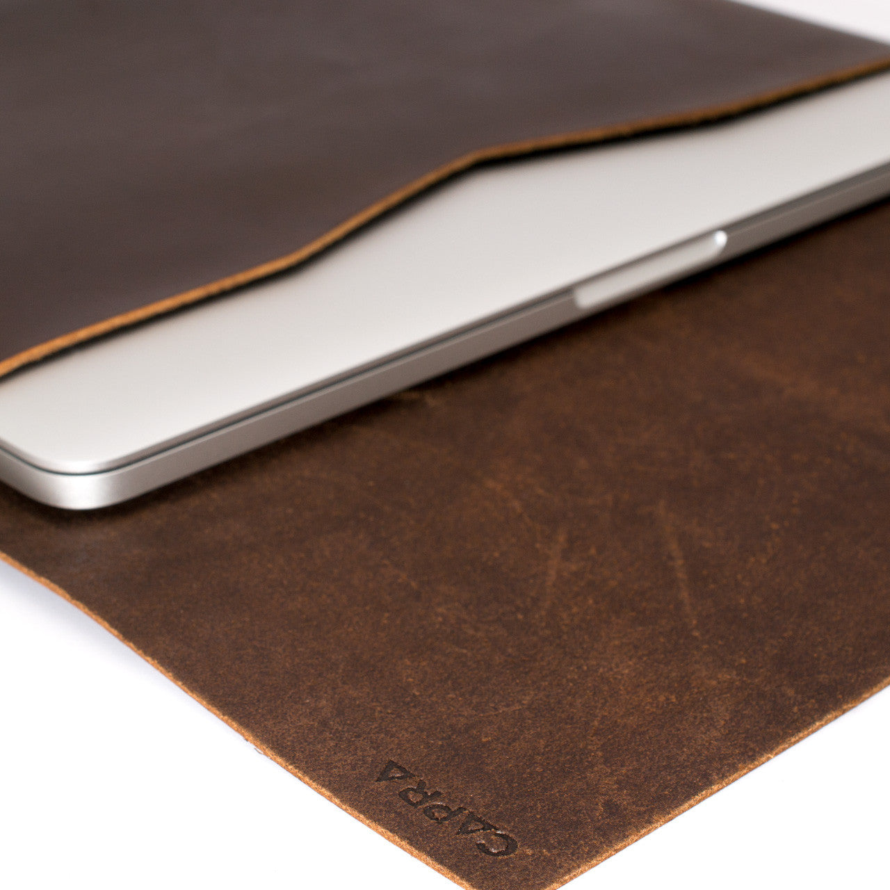Closed dark leather case for Lenovo Yoga Thinkpad