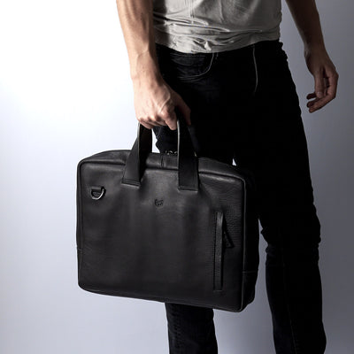 handmade leather briefcase for men
