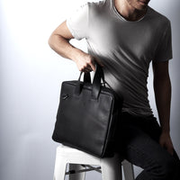 handmade leather workbag