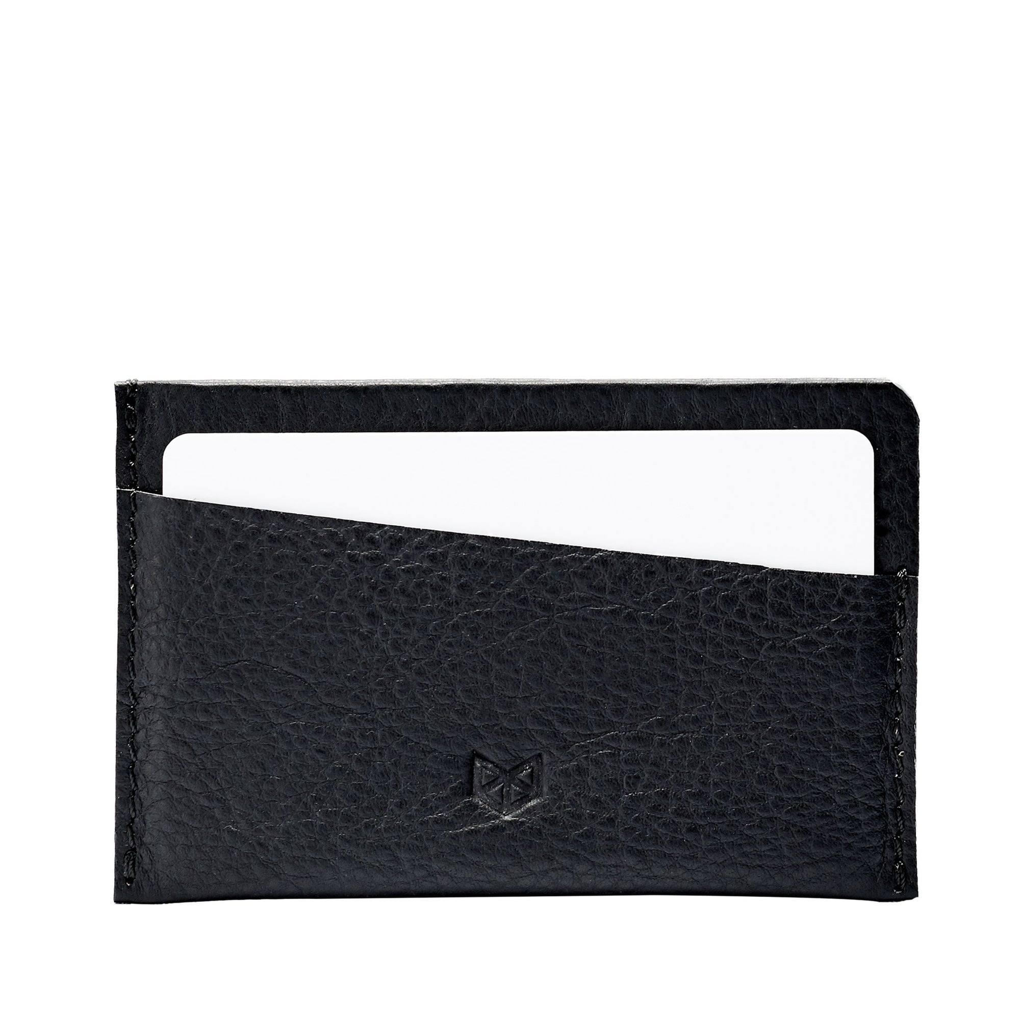 Leather black cards cardholder business cards sleeve. Perfect gift for men. Capra Leather