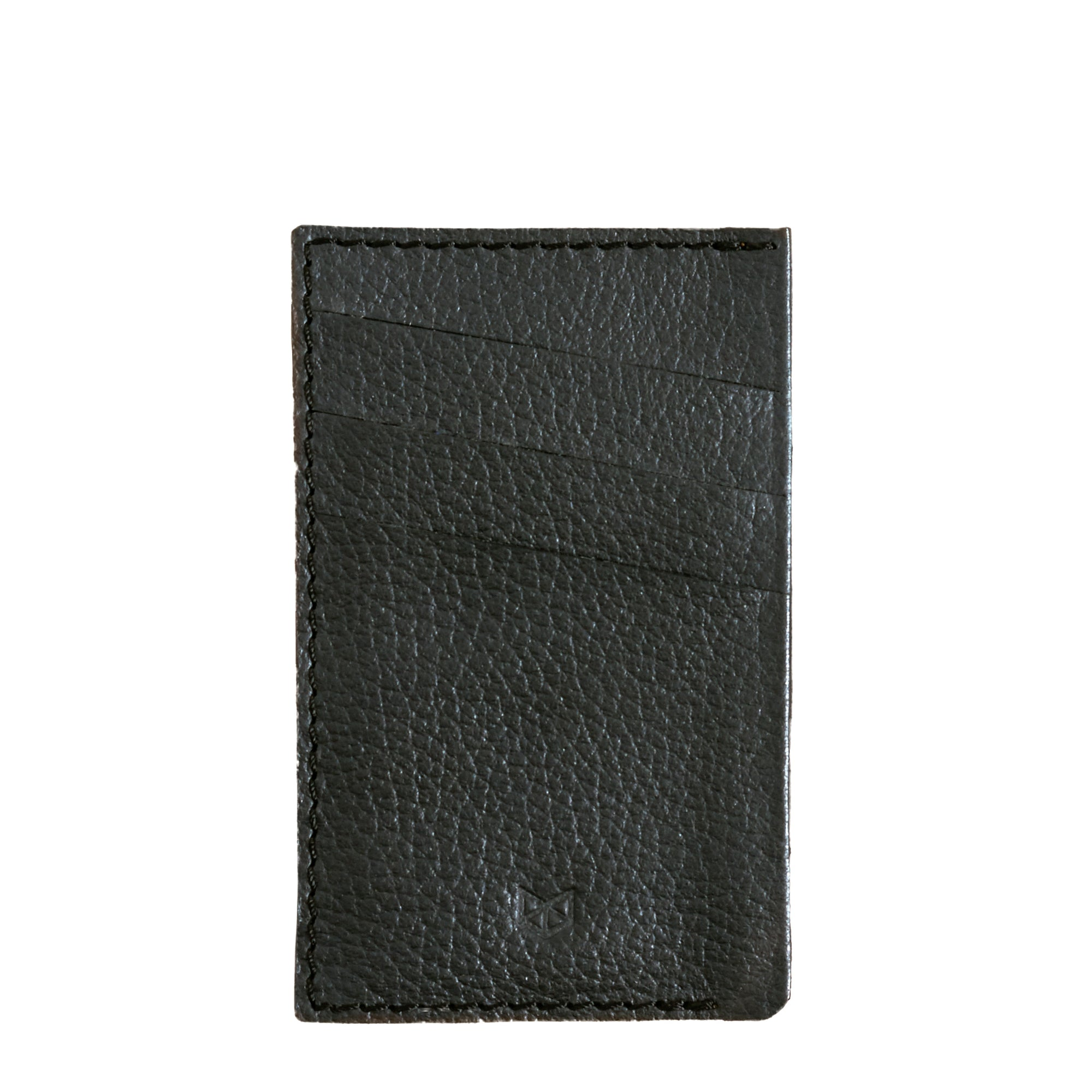 Front Cover. Card Holder Wallet Black by Capra Leather