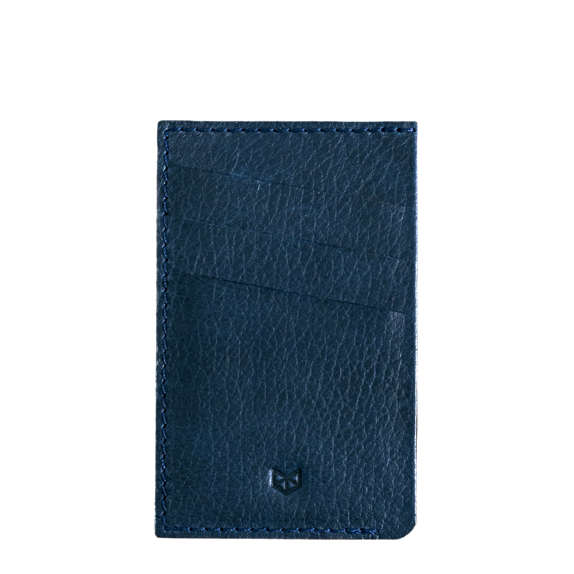 Front Cover. Card Holder Wallet Blue by Capra Leather