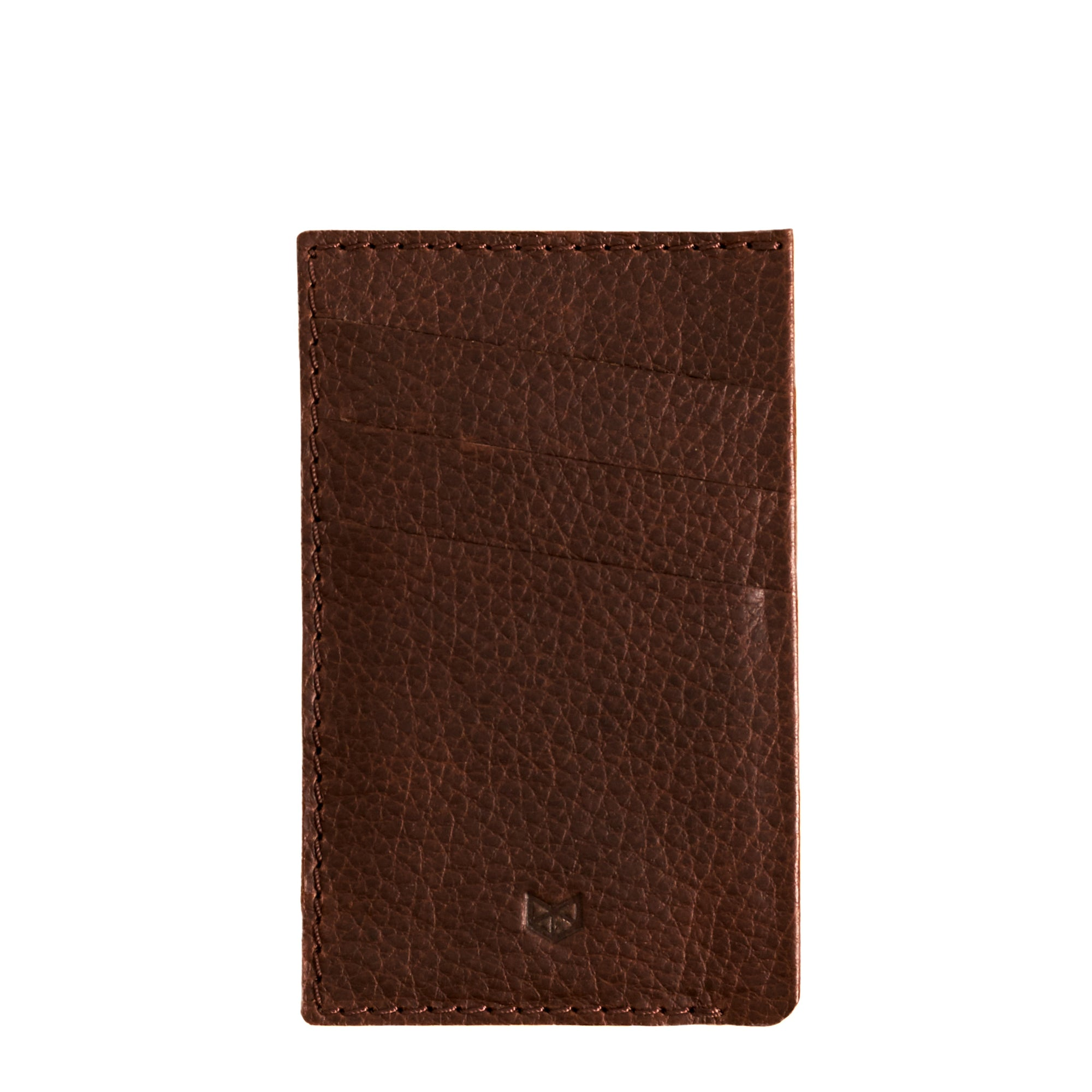 Front Cover. Card Holder Wallet Dark Brown by Capra Leather