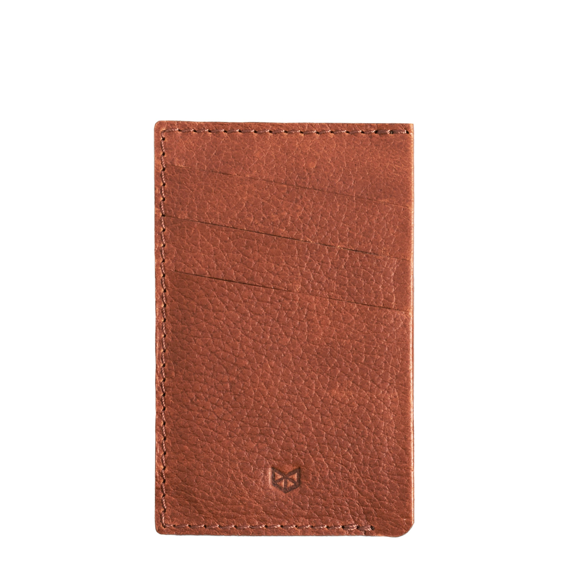 Front Cover. Card Holder Wallet Tan by Capra Leather