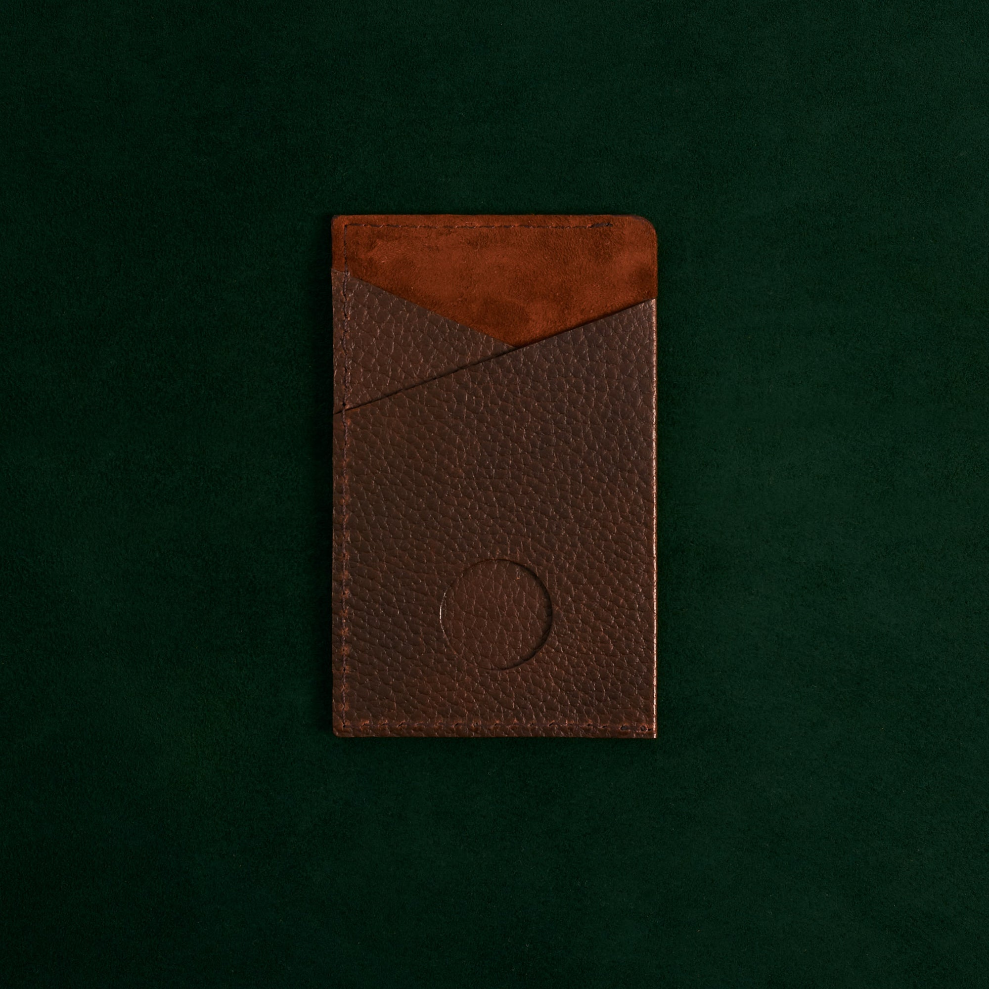 Front Cover. Card Holder Wallet Brown by Capra Leather