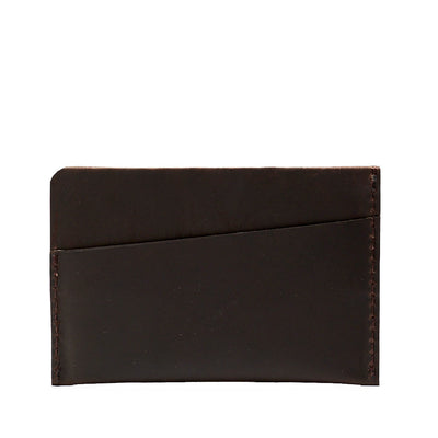 Slim dark brown leather card holder. Gifts for men, handmade accessories, minimalist designer cards wallet