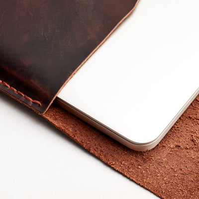 Yoga mens red brown sleeve. Leather Lenovo Yoga Sleeve Case by Capra Leather