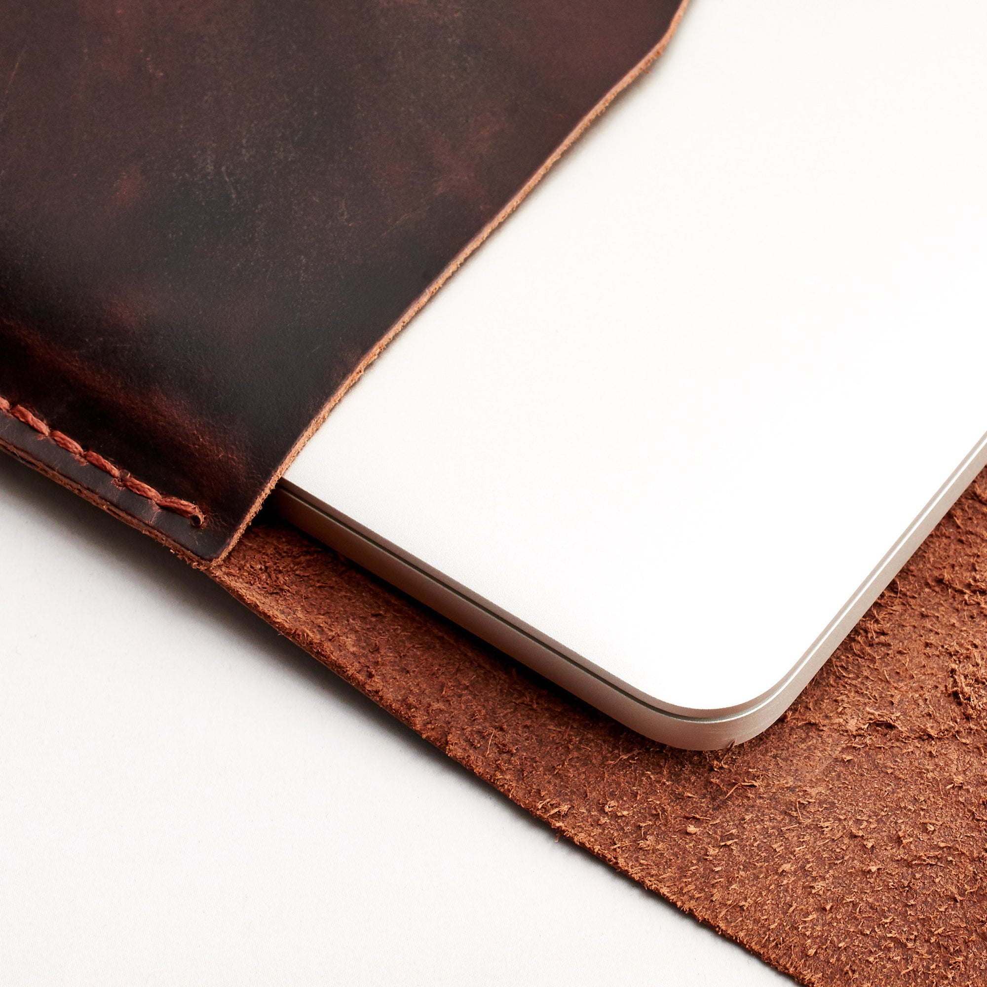 "Closed dred brown leather case for Dell XPS 13"" 15"""