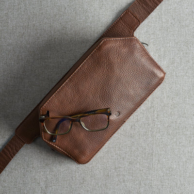 Glasses holder. Leather Fanny Pack, Bum Bag, Waist Bag by Capra