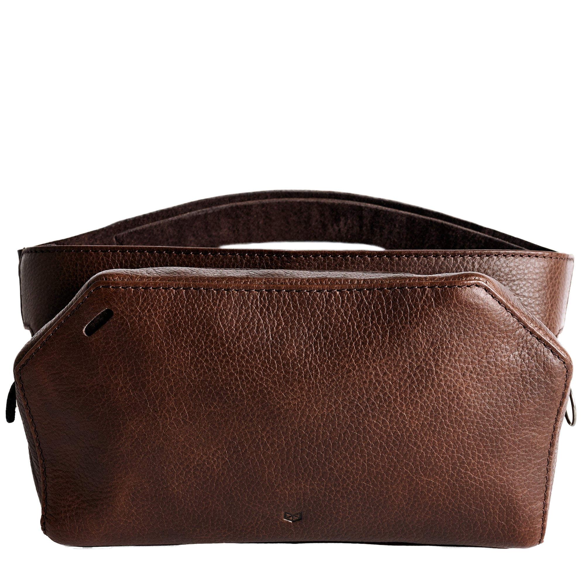 Brown Leather Fanny Pack by Capra