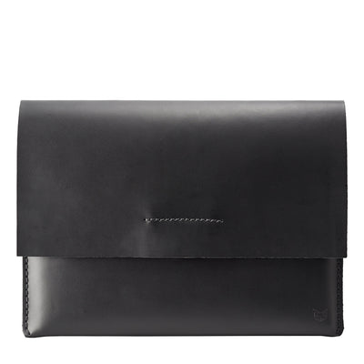 Cover. ASUS Zenbook Pro Duo Black leather case with pen holder. ASUS laptop mens folio
