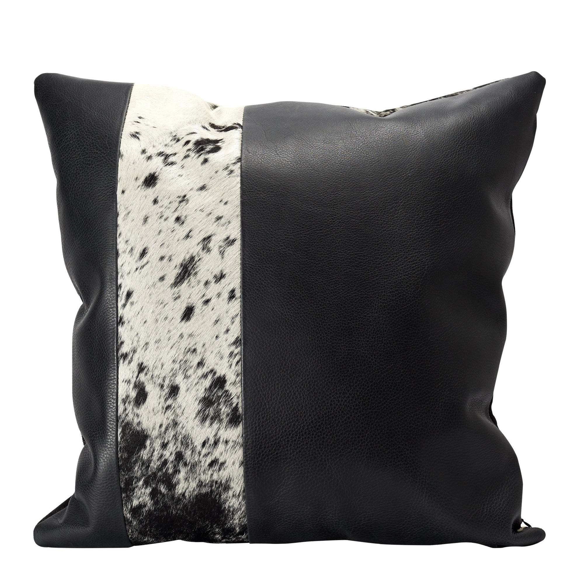 Black Dual Leather Cowhide Cushion. Couch Decoration, Lounge, Bench, Sofa  Cushion Covers
