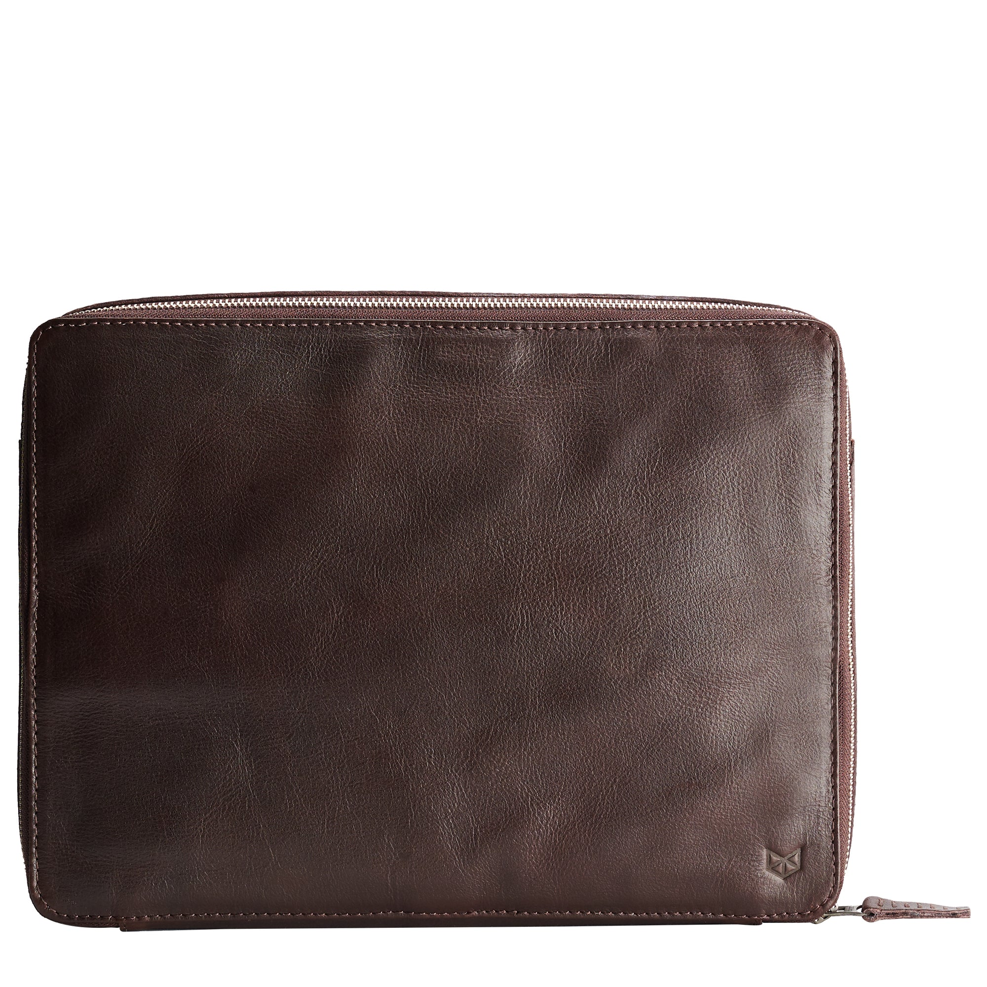 handmade dark brown tech laptop tablet bag is perfect for a business travel.