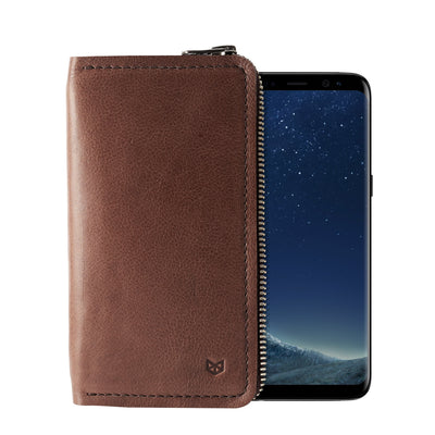 Cover. Handcrafted leather stand case for the Samsung Galaxy S8 and S8 Plus. Samsung sleeve wallet with card holder,