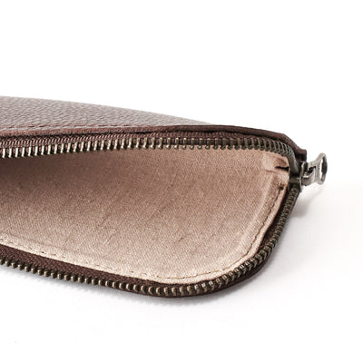 Soft linen interior. Dark brown leather Glasses case, sunglasses case, hand stitched leather sleeve for reading glasses