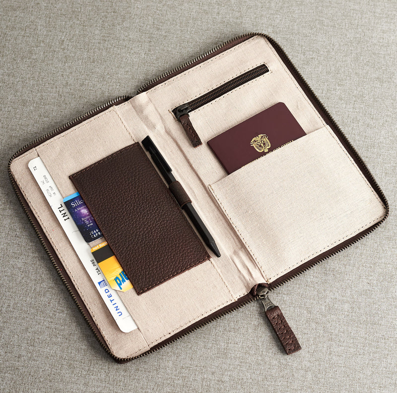Passport Holder · Dark Brown