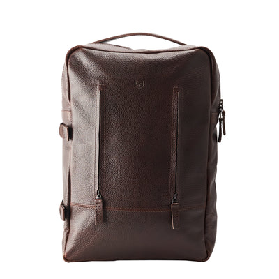 Handmade Tamarao Backpacks Rucksacks in Dark Brown by Capra Leather