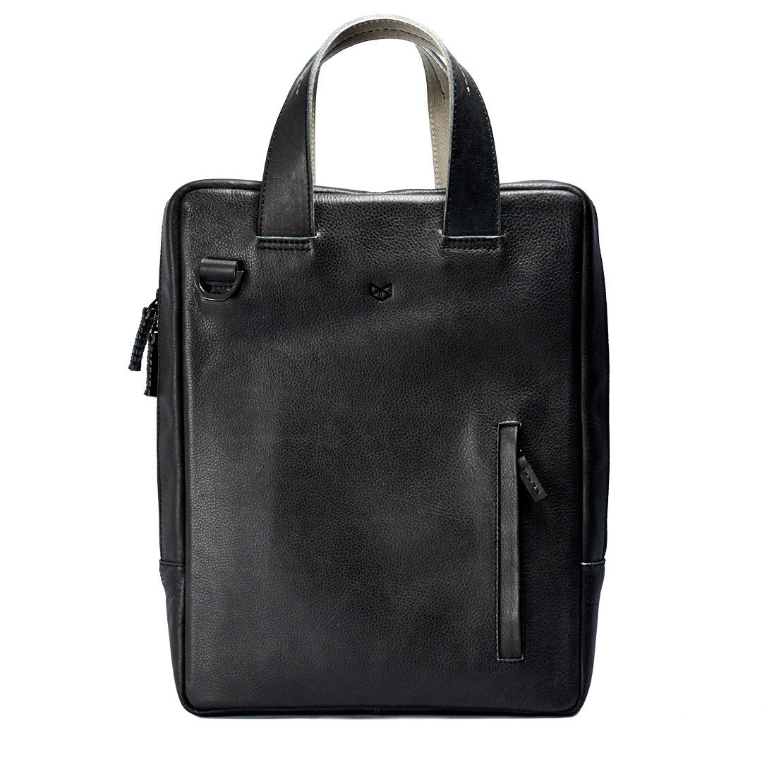 Handmade Vertical Nava Briefcase Bag · Black by Capra Leather 685c2a8d1741a
