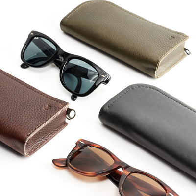 Double Glasses Case · Dark Brown