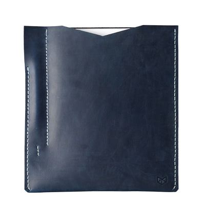 Ocean blue leather sleeve for iPad pro 10.5 inch 12.9 inch. Mens gifts