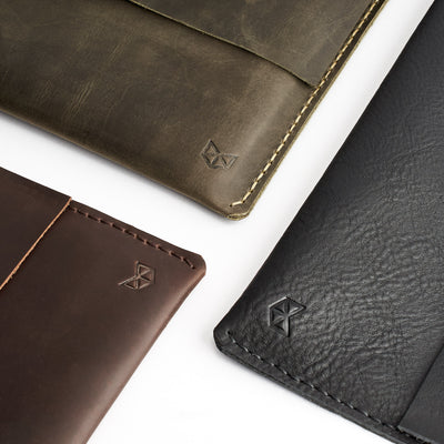 Pixelbook cases collection. Green Pixelbook Chromebook leather sleeve with  pencil holder