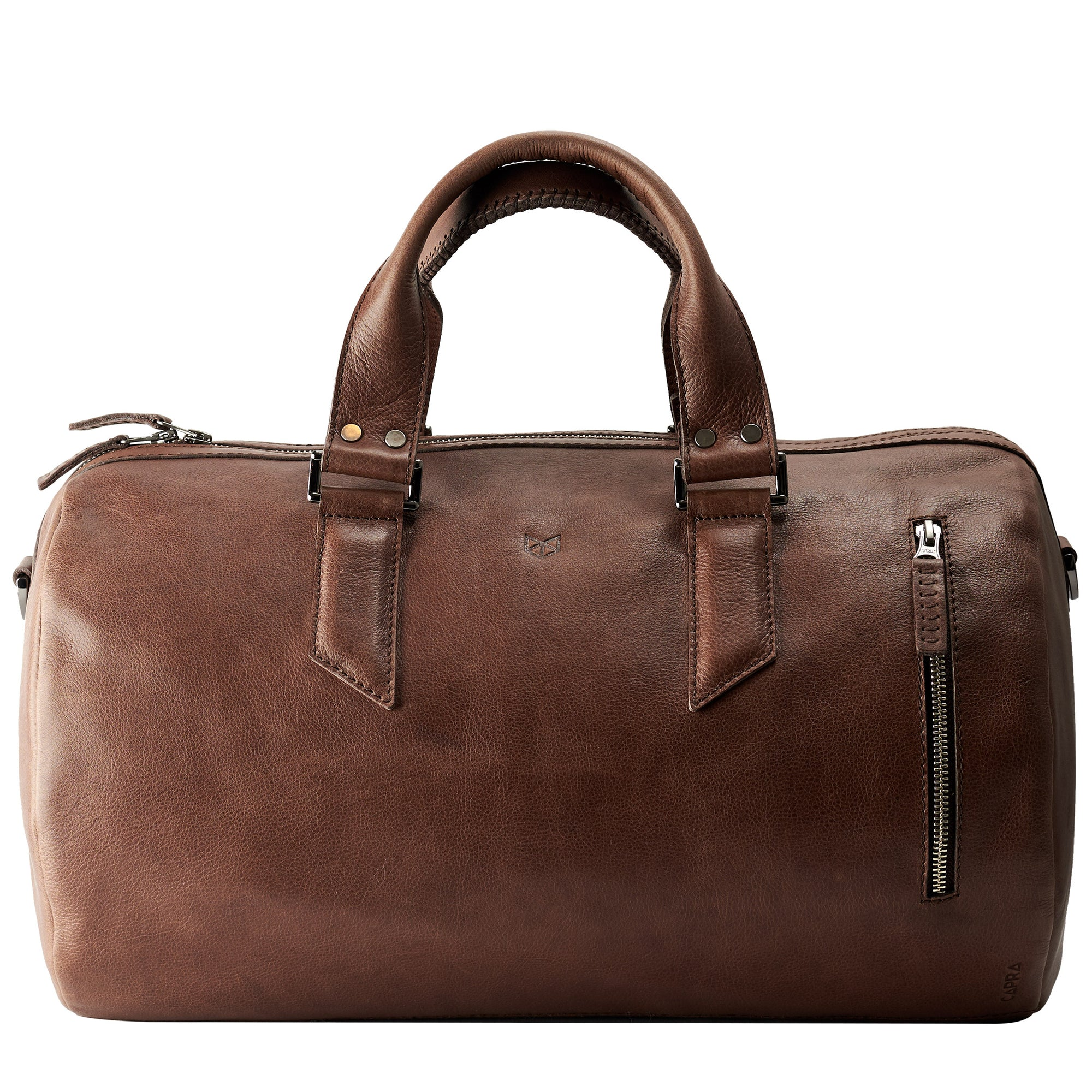 b5ce34014736 Handmade Substantial Leather Duffle Bag · Brown by Capra - Capra Leather