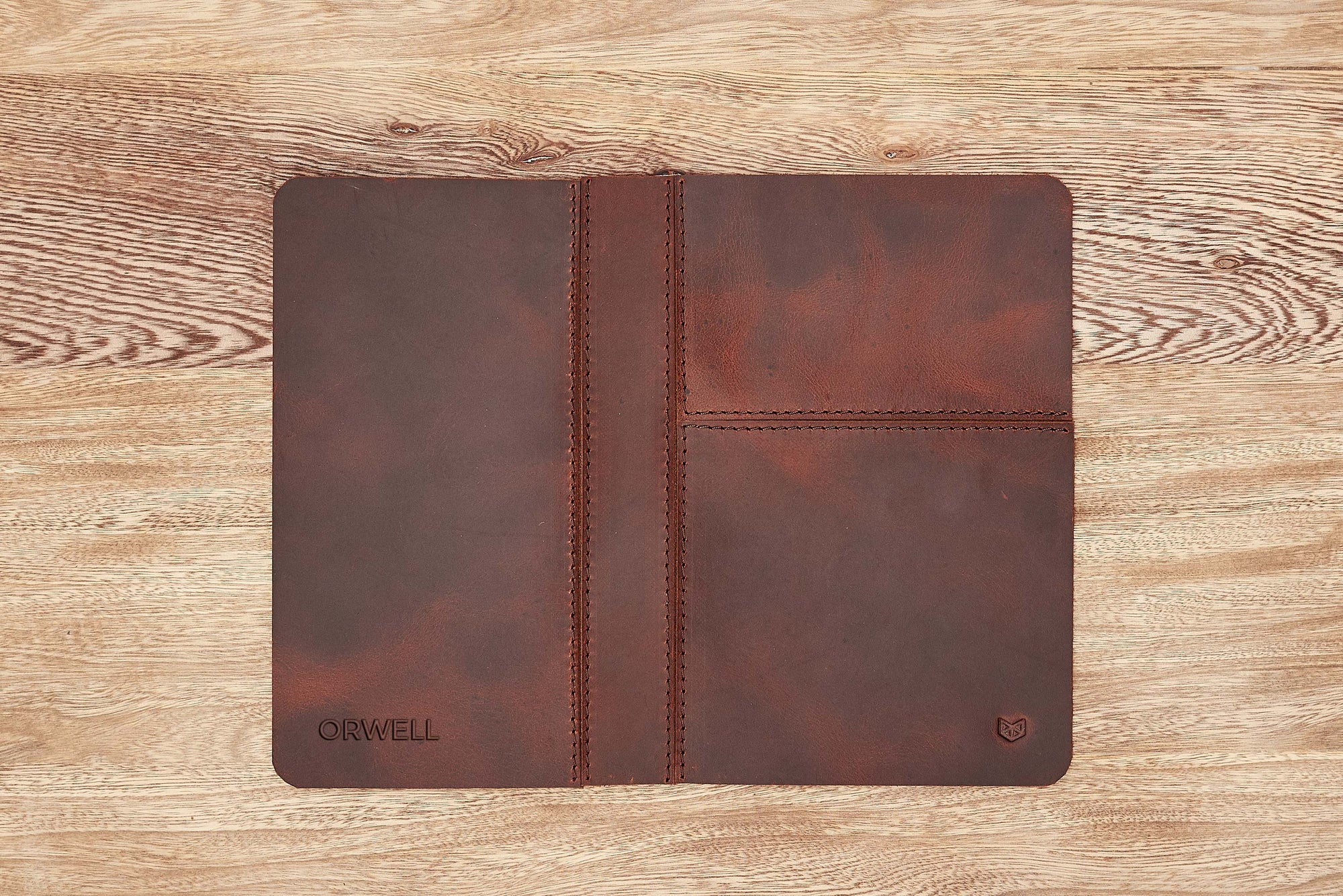 Cover. EDC Organizer Pad Distressed Cognac by Capra Leather