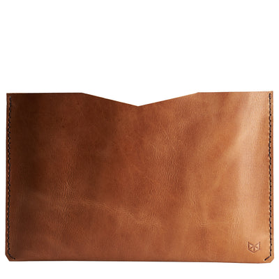 Dell XPS laptop inside leather sleeve