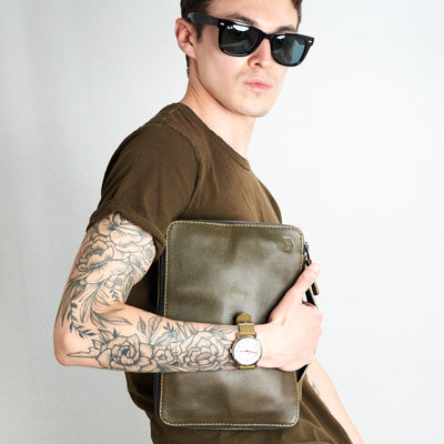 Style front picture for Gadget Bag by Capra Leather.
