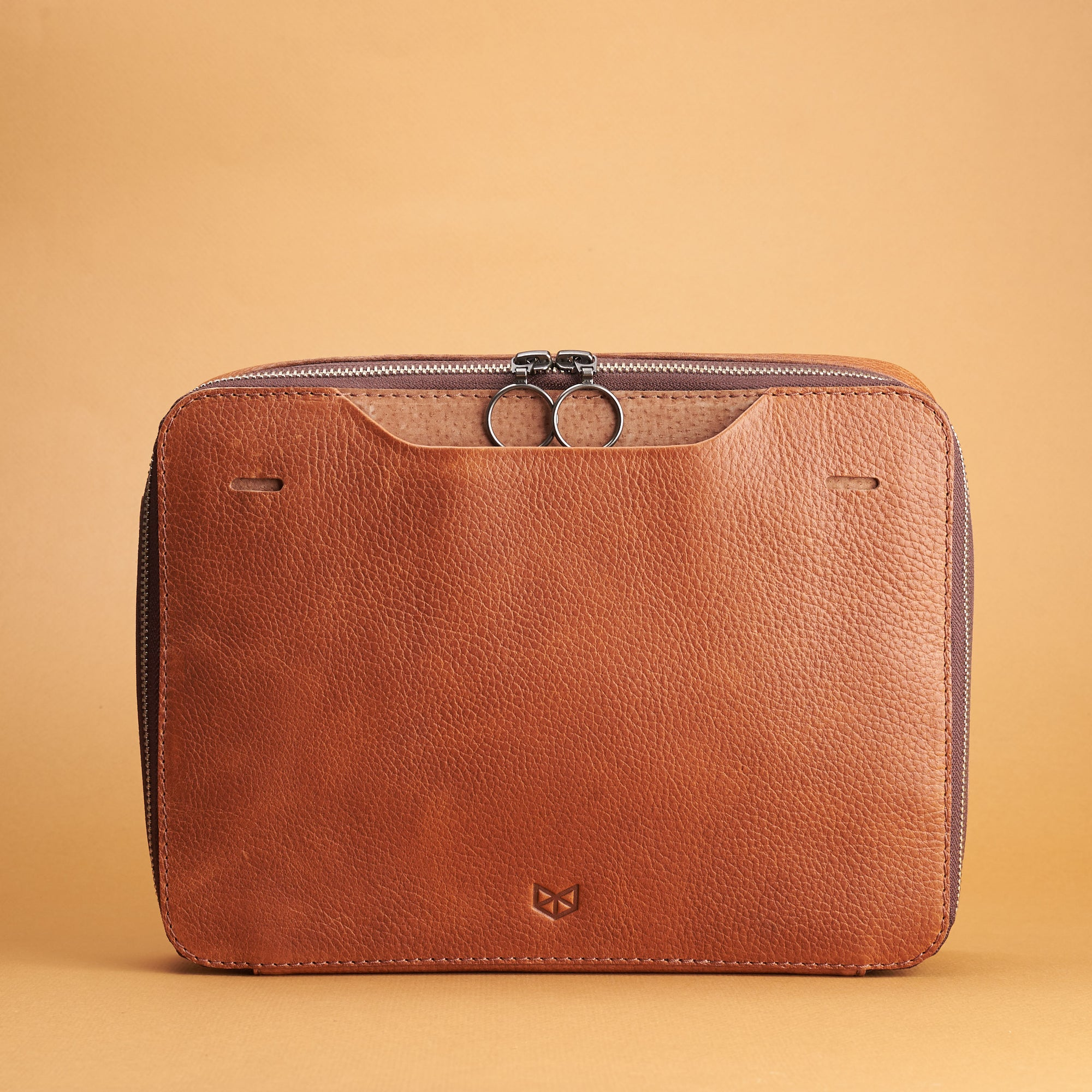 Cover. Tan Small Gear Travel Pouch 2 by Capra Leather