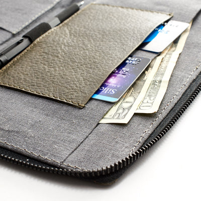 Business travel wallet. Green leather passport holder. Airport travel leather organizer accessories