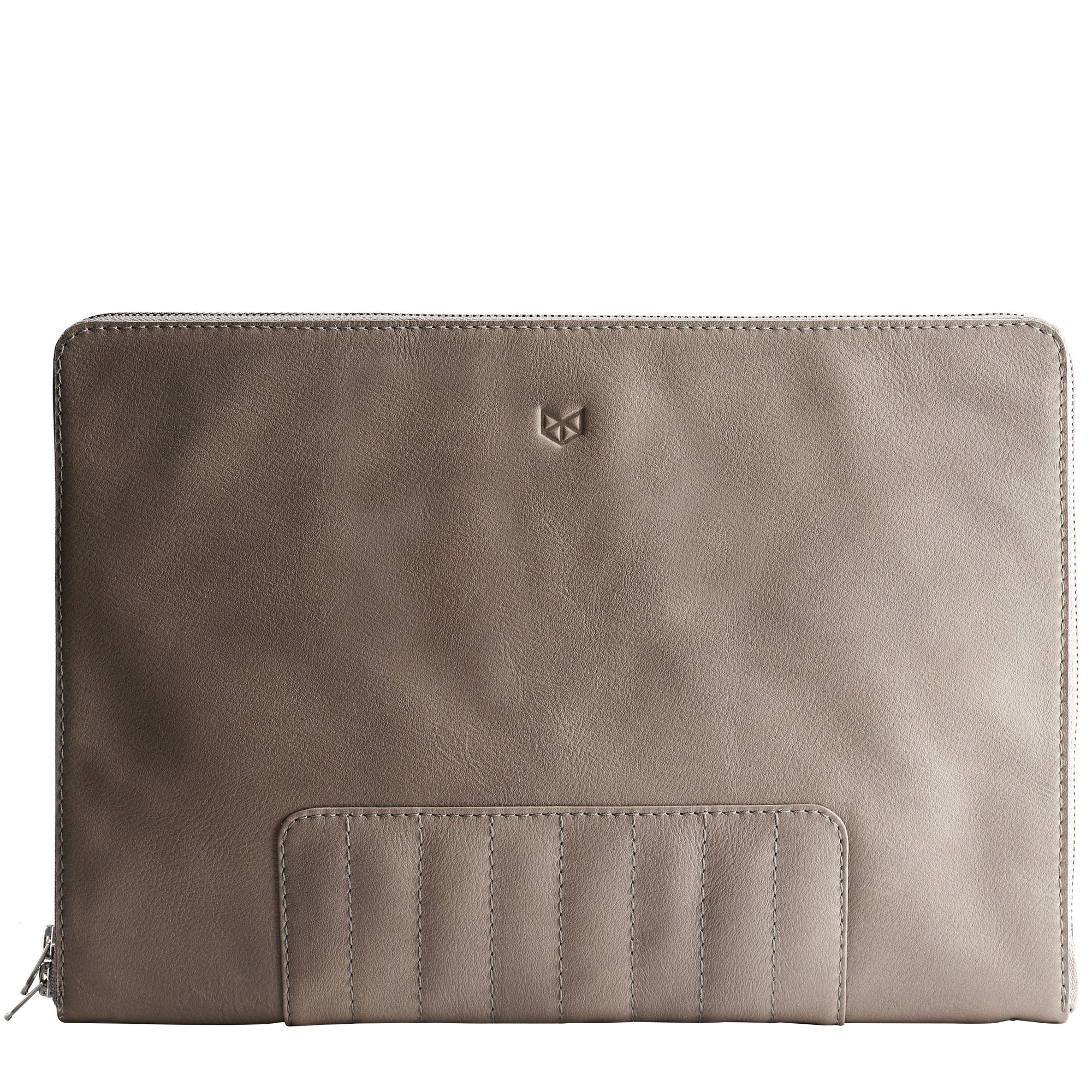 Cover. Grey Leather Laptop Portfolio Case. Laptops & devices Bag.