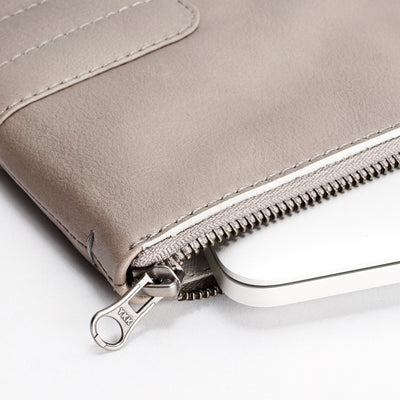 YKK metallic zippers. Handcrafted leather brown  laptop and documents portfolio case.