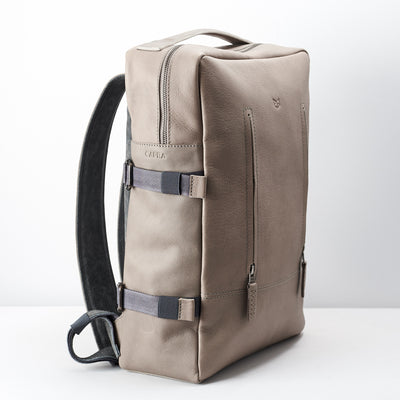 Side from mens leather backpack