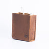 Light brown Apple charger leather bag. Office supplies. Cable organizers. Macbook Pro charger leather bag for mens gifts