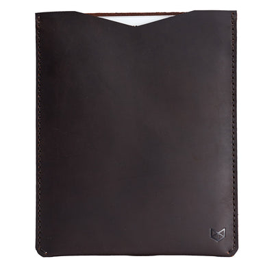 iPad pro dark brown  leather case