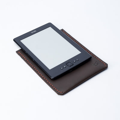 Custom Marron Leather Kindle Cover. Hand stitched Case. Lucid Kindle Case. Gifts for him